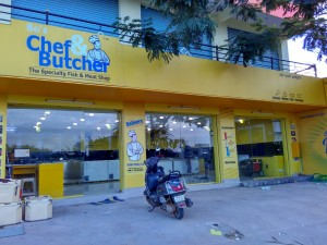 Outlet Front Side View of Chef and Butcher - Electronic City
